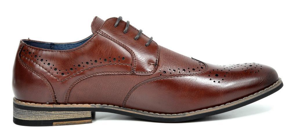 Bruno-Marc-Florence-pour-homme-1-formelle-de-mariage-en-Cuir-Synthetique-Double-derbies-chaussures miniature 20