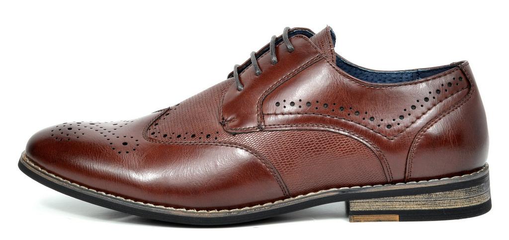 Bruno-Marc-Florence-pour-homme-1-formelle-de-mariage-en-Cuir-Synthetique-Double-derbies-chaussures miniature 19