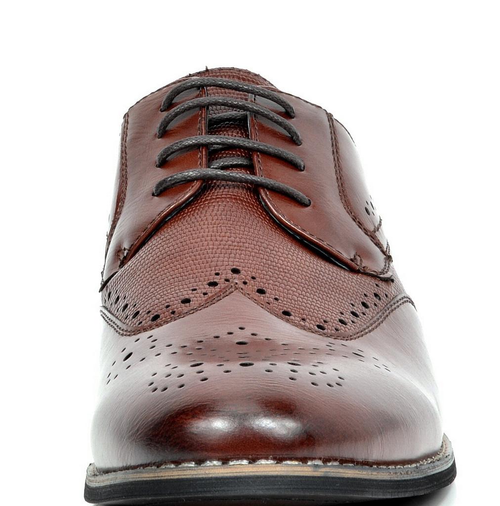 Bruno-Marc-Florence-pour-homme-1-formelle-de-mariage-en-Cuir-Synthetique-Double-derbies-chaussures miniature 21