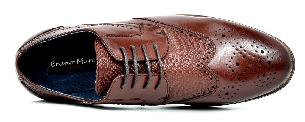 Bruno-Marc-Florence-pour-homme-1-formelle-de-mariage-en-Cuir-Synthetique-Double-derbies-chaussures miniature 23