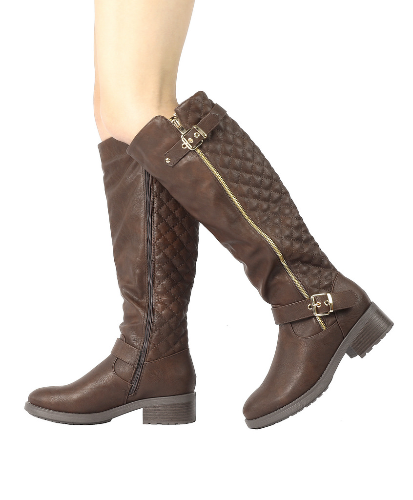 DREAM-PAIRS-Women-UTAH-Inner-Zipper-Knee-High-Riding-Boots-Wide-Calf-Available thumbnail 35