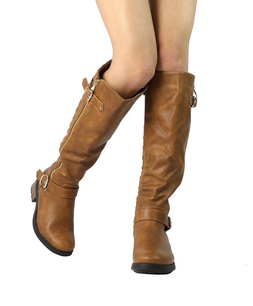 DREAM-PAIRS-Women-UTAH-Inner-Zipper-Knee-High-Riding-Boots-Wide-Calf-Available thumbnail 41