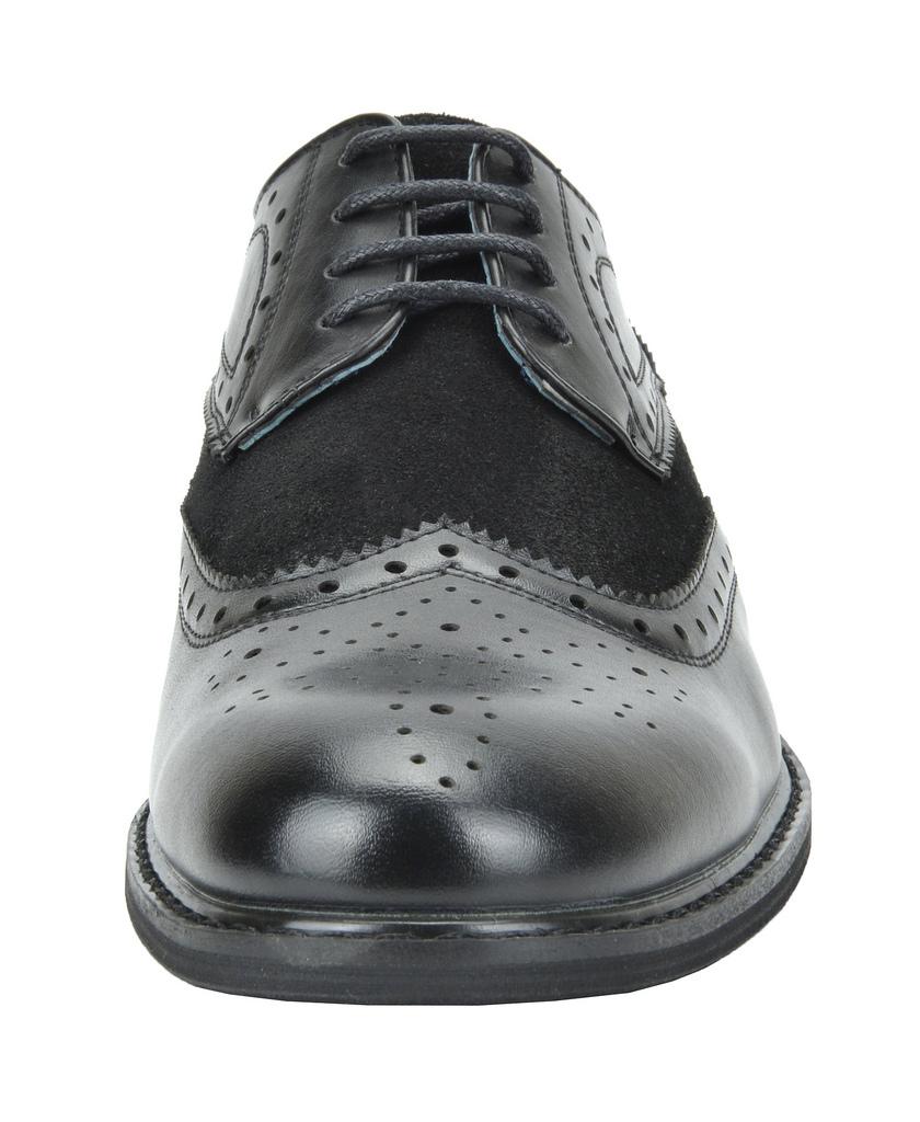 Bruno-Marc-Prince-pour-homme-en-cuir-double-lacets-Wing-Tip-formelle-robe-derbies-chaussures miniature 30