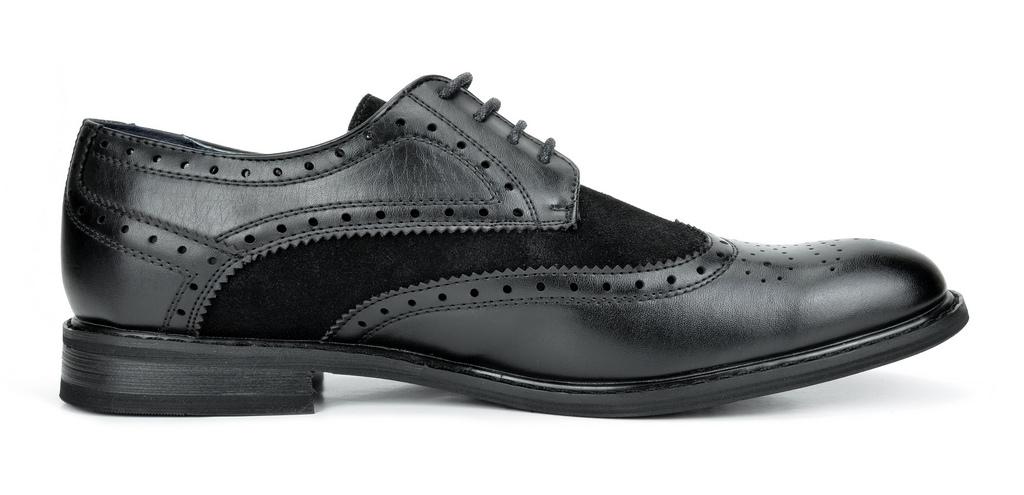 Bruno-Marc-Prince-pour-homme-en-cuir-double-lacets-Wing-Tip-formelle-robe-derbies-chaussures miniature 28
