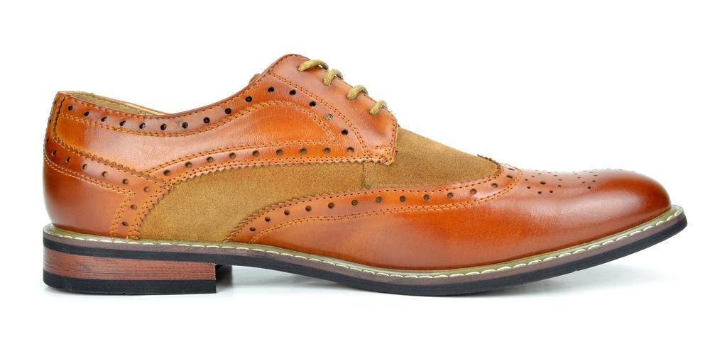 Bruno-Marc-Prince-pour-homme-en-cuir-double-lacets-Wing-Tip-formelle-robe-derbies-chaussures miniature 21