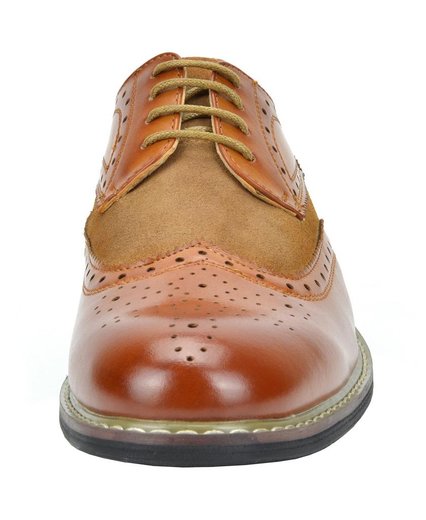 Bruno-Marc-Prince-pour-homme-en-cuir-double-lacets-Wing-Tip-formelle-robe-derbies-chaussures miniature 23