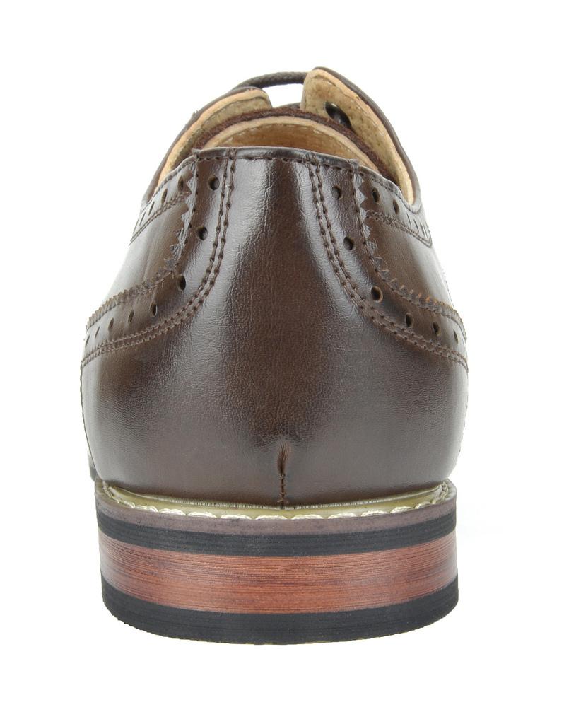 Bruno-Marc-Prince-pour-homme-en-cuir-double-lacets-Wing-Tip-formelle-robe-derbies-chaussures miniature 17