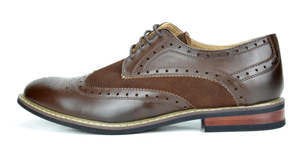 Bruno-Marc-Prince-pour-homme-en-cuir-double-lacets-Wing-Tip-formelle-robe-derbies-chaussures miniature 13