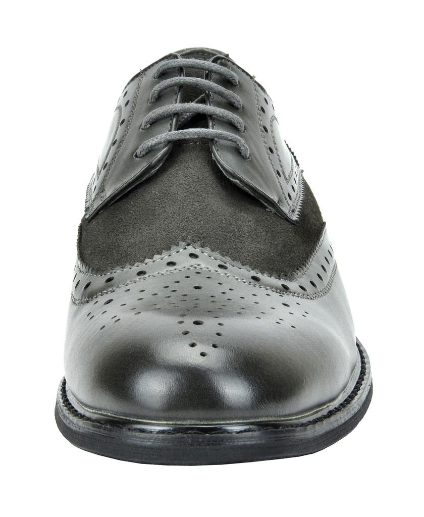 Bruno-Marc-Prince-pour-homme-en-cuir-double-lacets-Wing-Tip-formelle-robe-derbies-chaussures miniature 9
