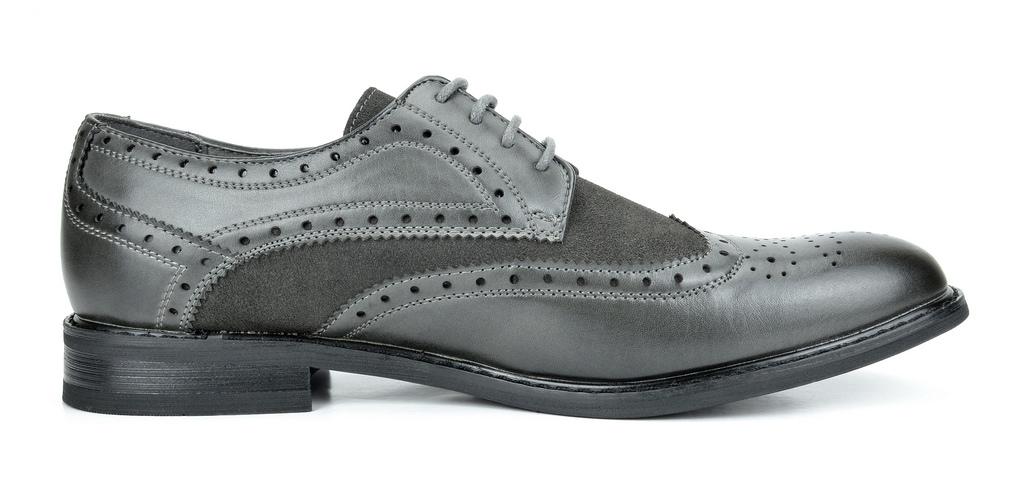 Bruno-Marc-Prince-pour-homme-en-cuir-double-lacets-Wing-Tip-formelle-robe-derbies-chaussures miniature 7