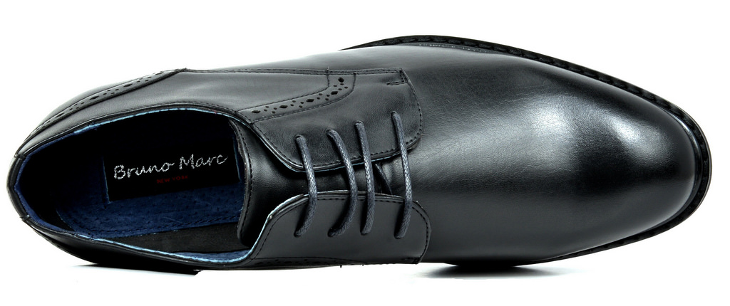 Bruno-Marc-Mens-Leather-Formal-Lined-Brogue-Design-Classic-Dress-Oxfords-Shoes thumbnail 35