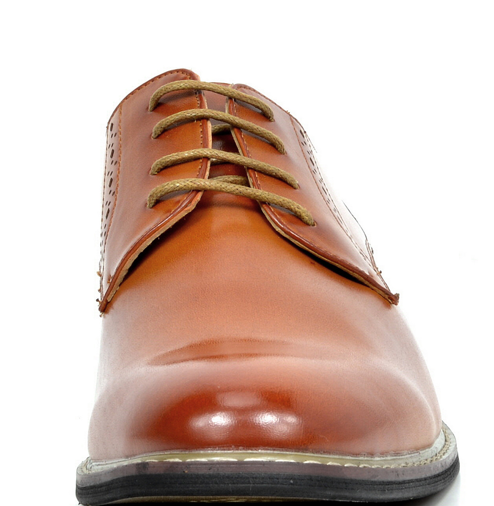 Bruno-Marc-Mens-Leather-Formal-Lined-Brogue-Design-Classic-Dress-Oxfords-Shoes thumbnail 26