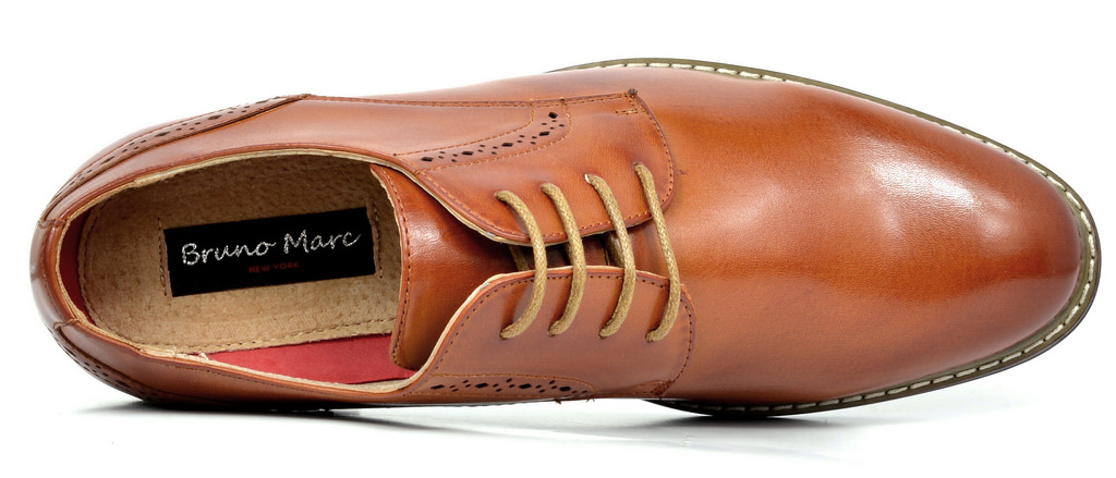 Bruno-Marc-Mens-Leather-Formal-Lined-Brogue-Design-Classic-Dress-Oxfords-Shoes thumbnail 28