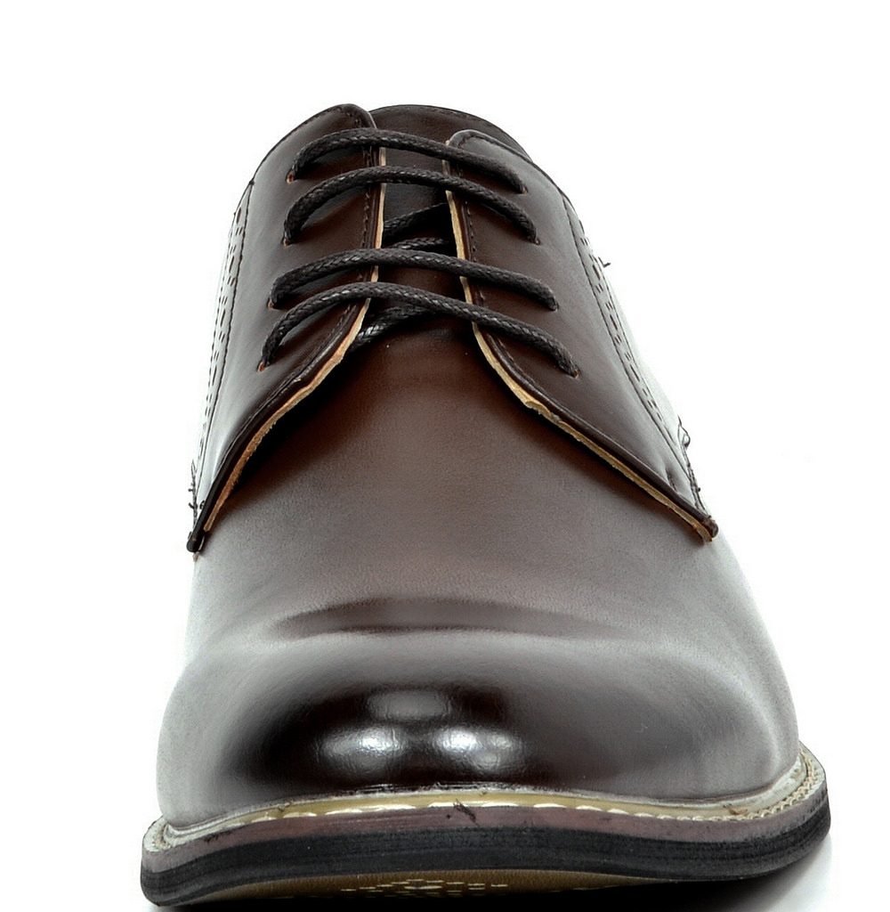 Bruno-Marc-Mens-Leather-Formal-Lined-Brogue-Design-Classic-Dress-Oxfords-Shoes thumbnail 19