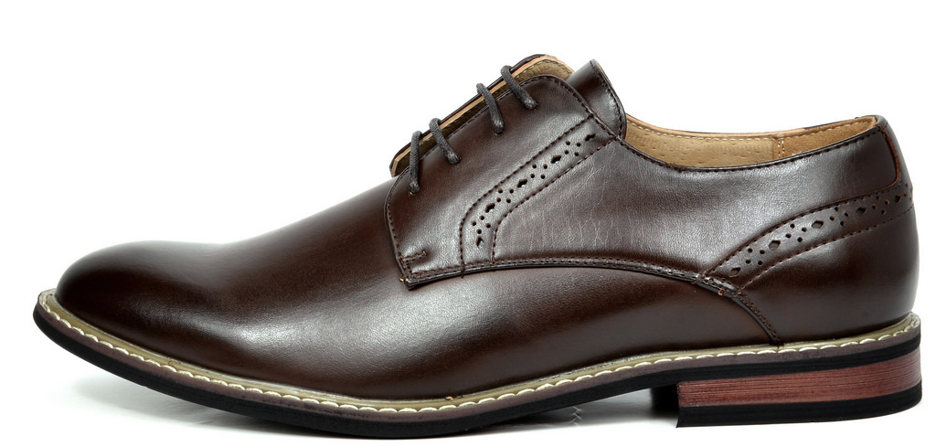 Bruno-Marc-Mens-Leather-Formal-Lined-Brogue-Design-Classic-Dress-Oxfords-Shoes thumbnail 17