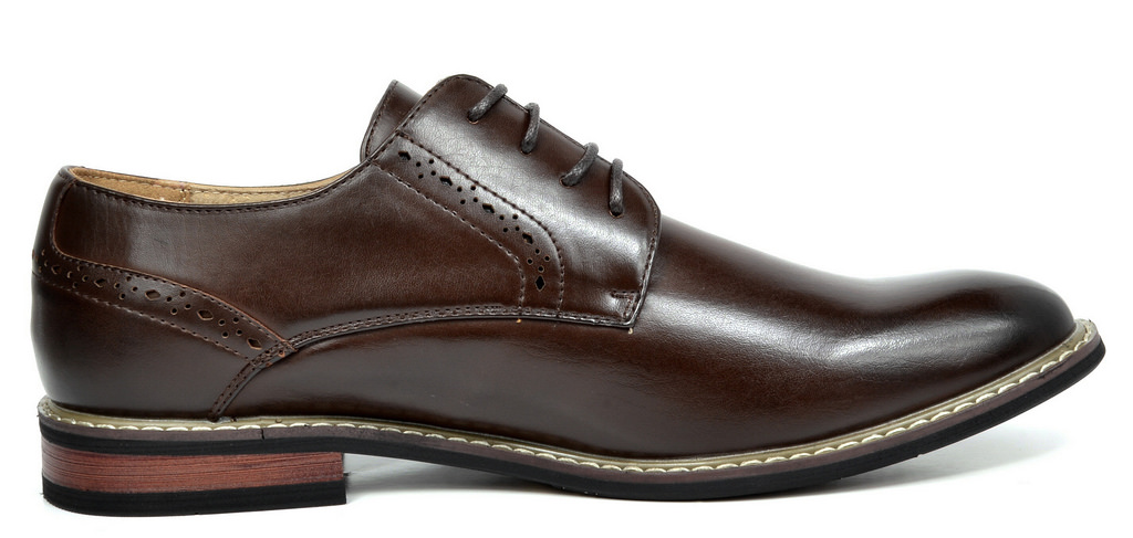 Bruno-Marc-Mens-Leather-Formal-Lined-Brogue-Design-Classic-Dress-Oxfords-Shoes thumbnail 18