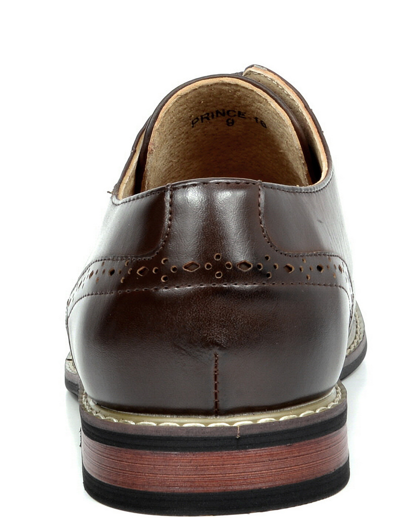 Bruno-Marc-Mens-Leather-Formal-Lined-Brogue-Design-Classic-Dress-Oxfords-Shoes thumbnail 20