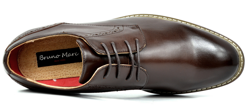 Bruno-Marc-Mens-Leather-Formal-Lined-Brogue-Design-Classic-Dress-Oxfords-Shoes thumbnail 21