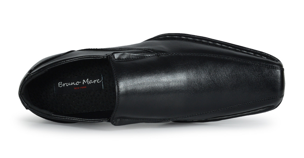 Bruno-MARC-GIORGIO-Mens-Square-Toe-Stretch-Insert-Slip-On-Loafers-Dress-Shoes thumbnail 11