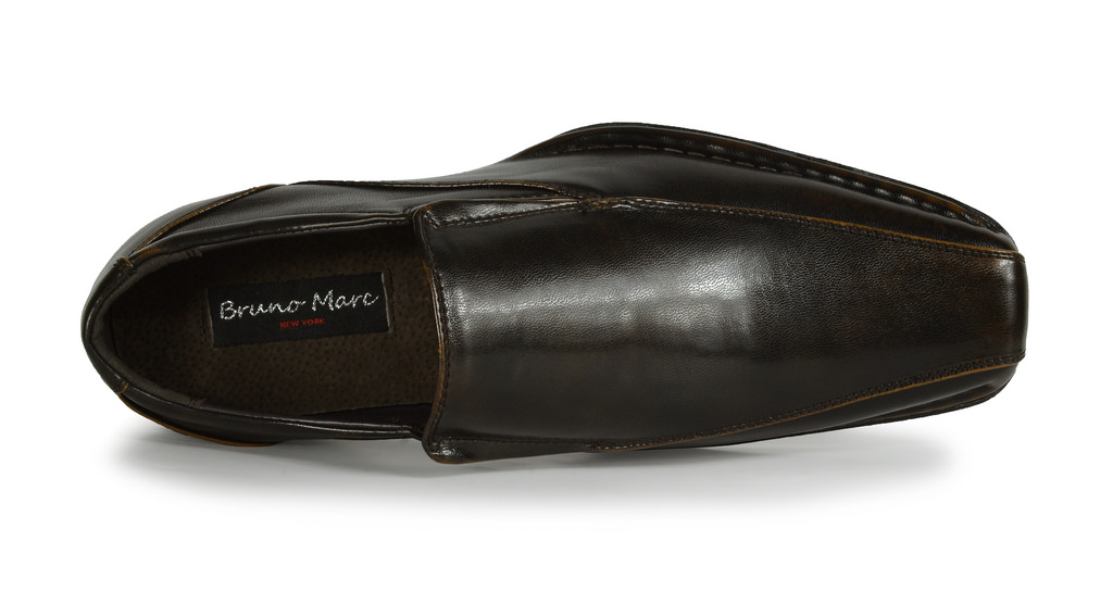 Bruno-MARC-GIORGIO-Mens-Square-Toe-Stretch-Insert-Slip-On-Loafers-Dress-Shoes thumbnail 17