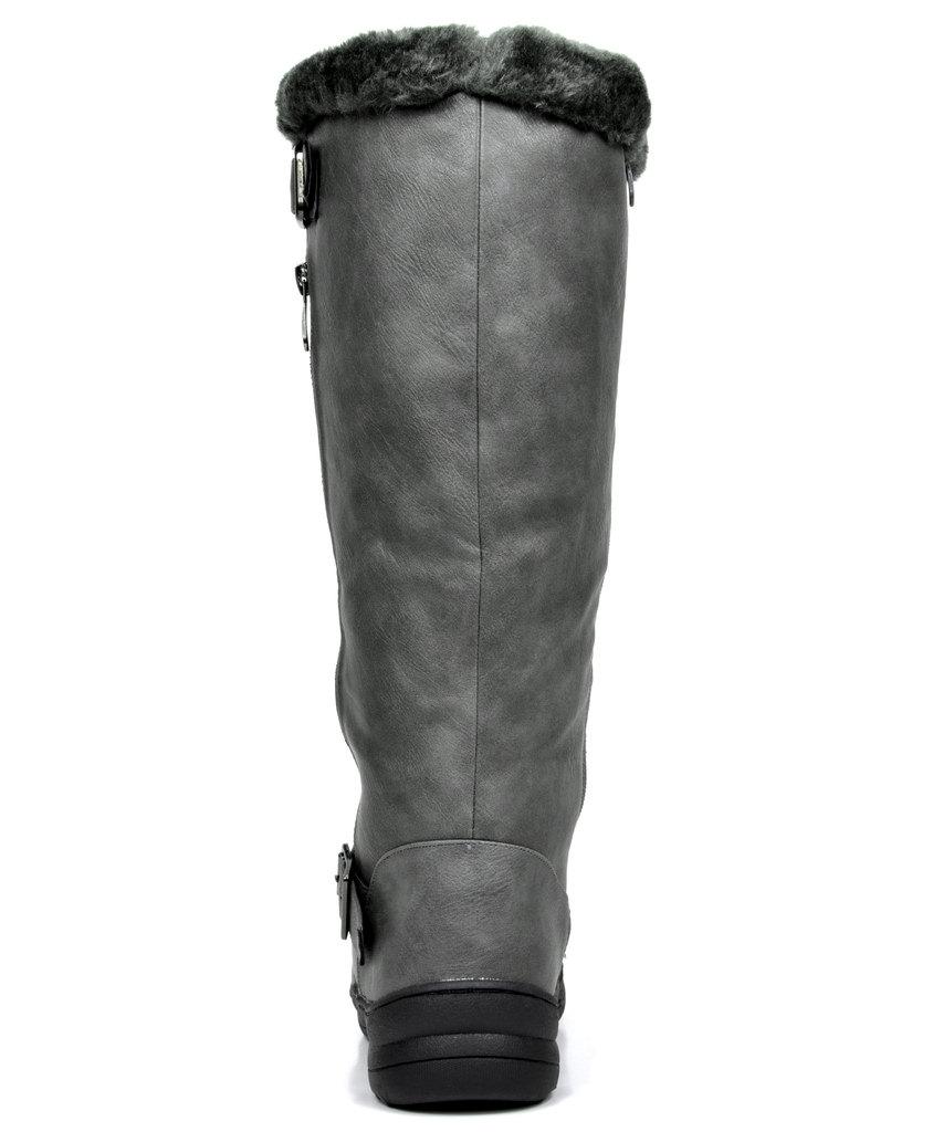 fc65972cfe7 Details about DREAM PAIRS Women Warm Winter Fur Lined Zipper Snow Knee High  Boots (Wide-Calf)