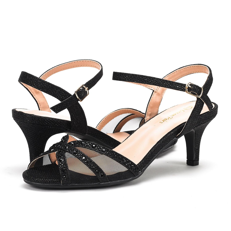 DREAM-PAIRS-Women-Nina-Summer-Dance-Open-Toe-Dress-Wedding-Low-Heel-Pump-Sandals thumbnail 7