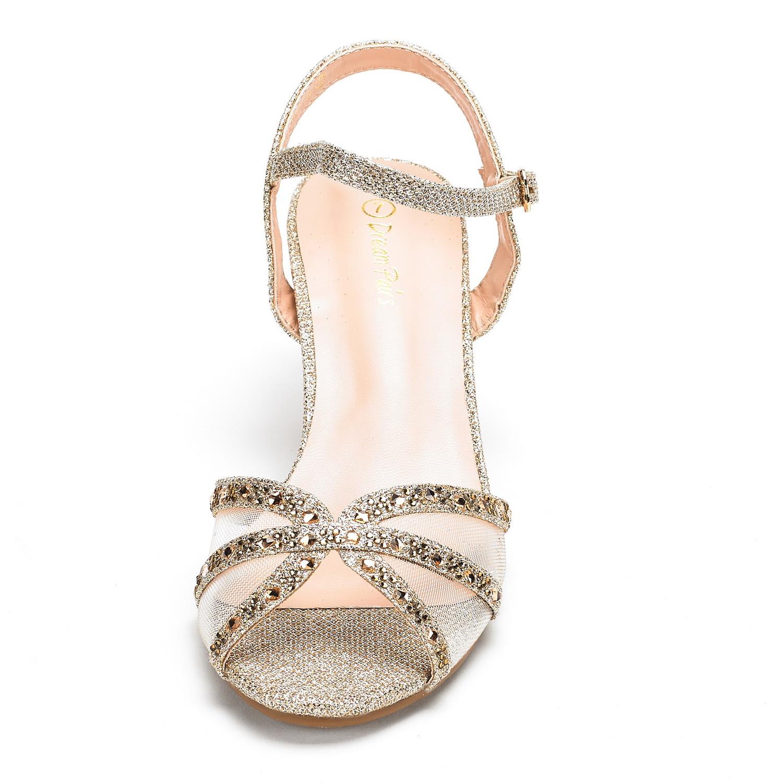 DREAM-PAIRS-Women-Nina-Summer-Dance-Open-Toe-Dress-Wedding-Low-Heel-Pump-Sandals thumbnail 15