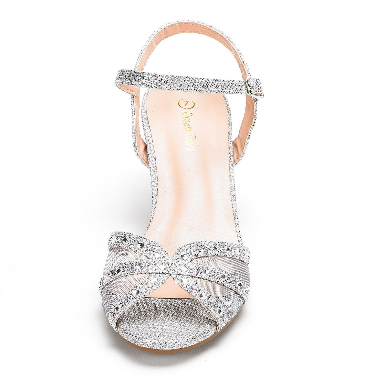 DREAM-PAIRS-Women-Nina-Summer-Dance-Open-Toe-Dress-Wedding-Low-Heel-Pump-Sandals thumbnail 21