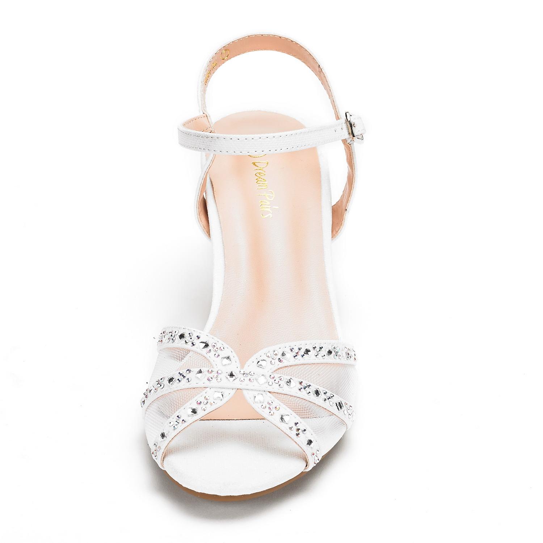 DREAM-PAIRS-Women-Nina-Summer-Dance-Open-Toe-Dress-Wedding-Low-Heel-Pump-Sandals thumbnail 27