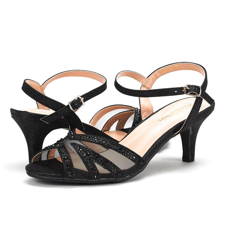 DREAM-PAIRS-Women-Nina-Summer-Dance-Open-Toe-Dress-Wedding-Low-Heel-Pump-Sandals thumbnail 31