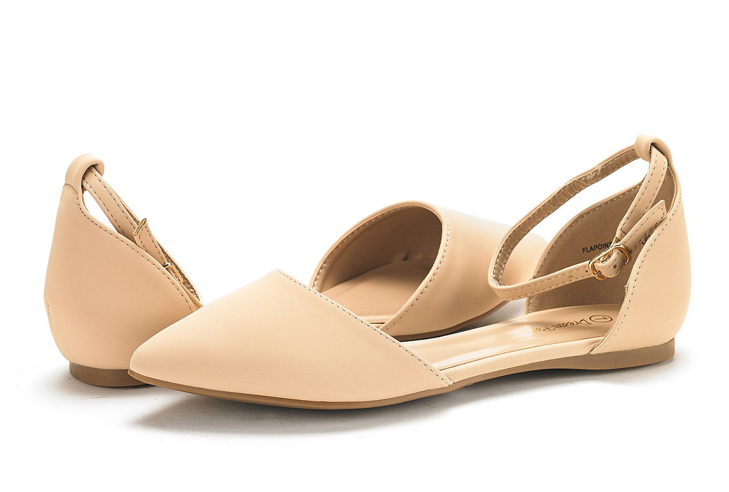 thumbnail 44 - DREAM PAIRS Women's Ballerina Ballet Flats Pointed Toe Ankle Strap Flat Shoes