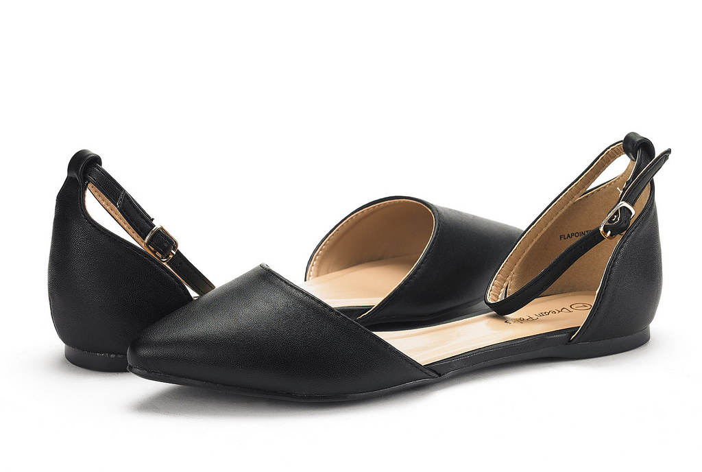 thumbnail 48 - DREAM PAIRS Women's Ballerina Ballet Flats Pointed Toe Ankle Strap Flat Shoes