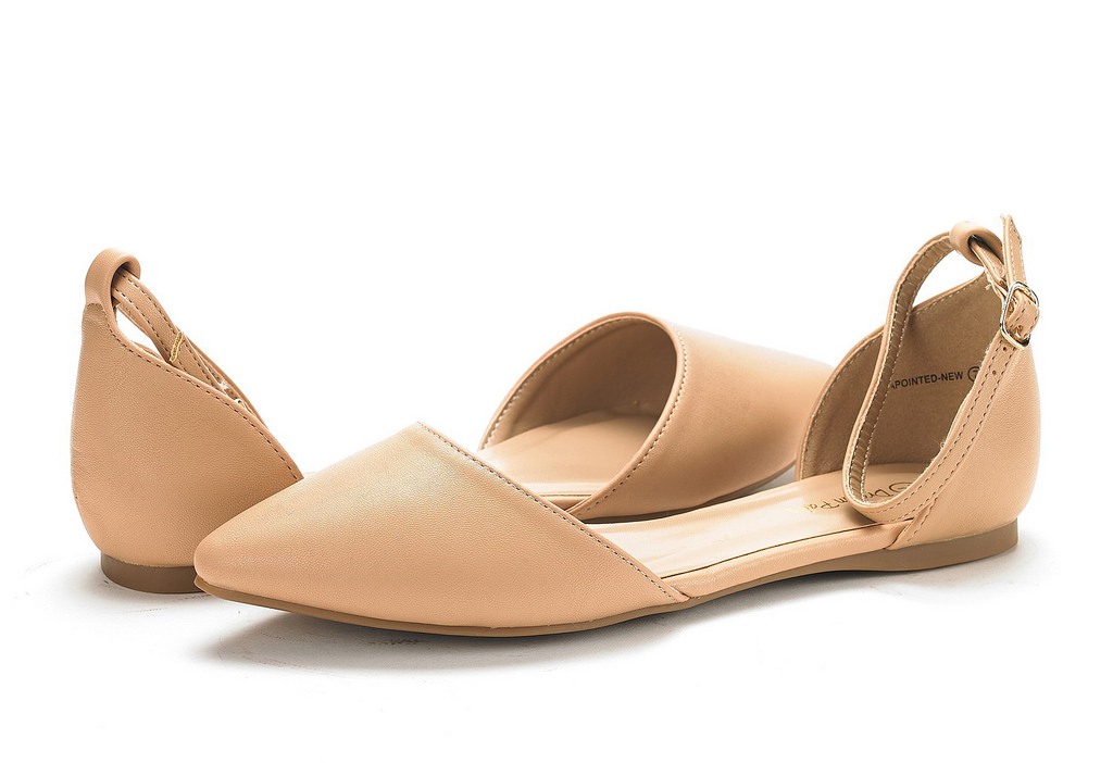 thumbnail 52 - DREAM PAIRS Women's Ballerina Ballet Flats Pointed Toe Ankle Strap Flat Shoes