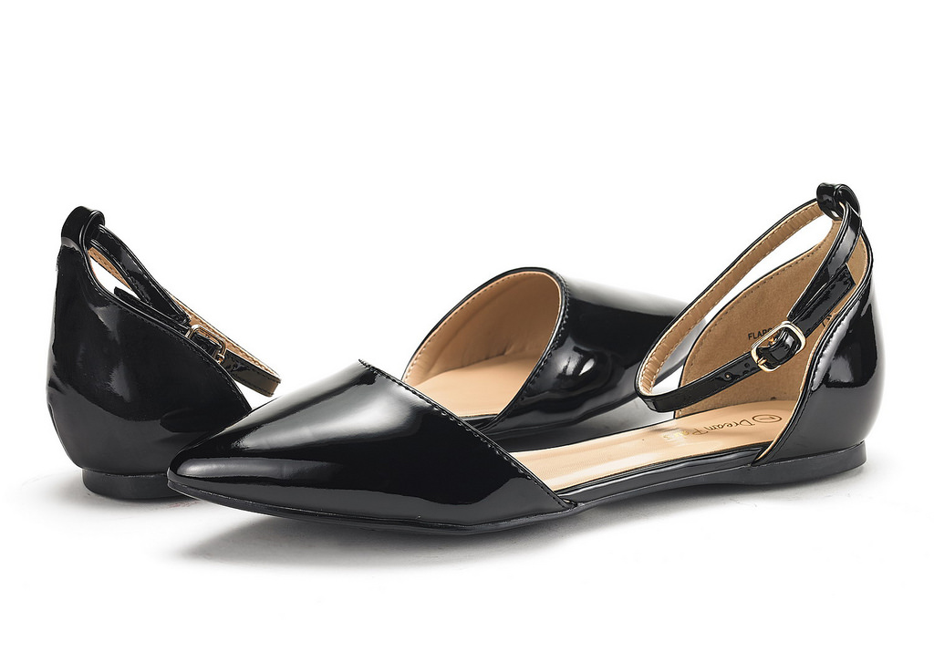 DREAM-PAIRS-Women-039-s-Ballerina-Ballet-Flats-Pointed-Toe-Ankle-Strap-Flat-Shoes thumbnail 4