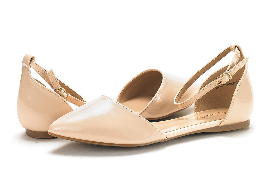 DREAM-PAIRS-Women-039-s-Ballerina-Ballet-Flats-Pointed-Toe-Ankle-Strap-Flat-Shoes thumbnail 8