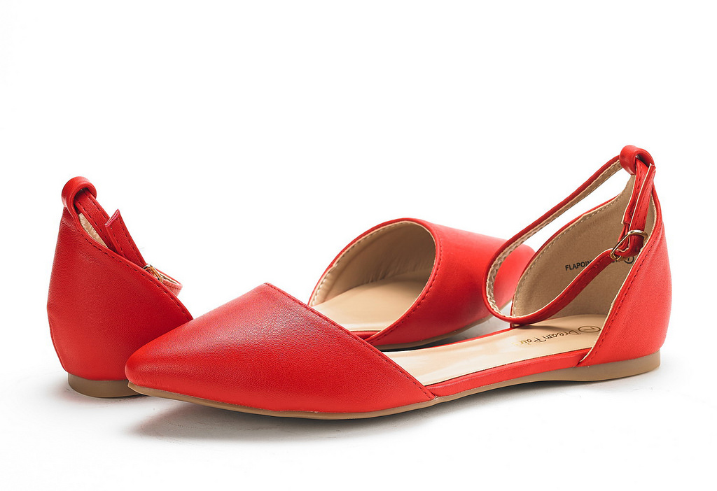 DREAM-PAIRS-Women-039-s-Ballerina-Ballet-Flats-Pointed-Toe-Ankle-Strap-Flat-Shoes thumbnail 12