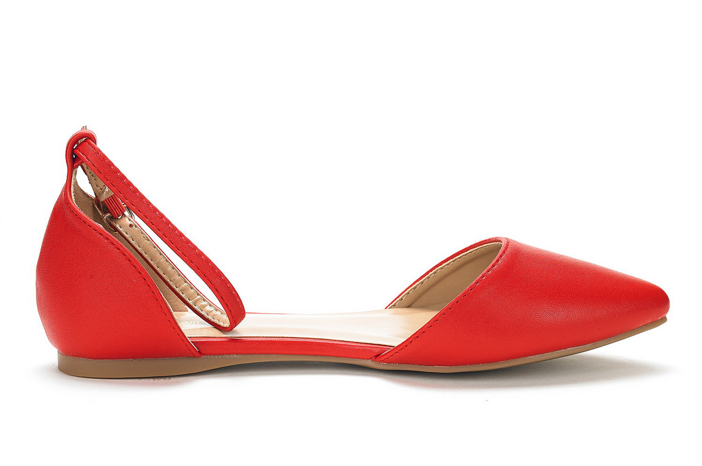 DREAM-PAIRS-Women-039-s-Ballerina-Ballet-Flats-Pointed-Toe-Ankle-Strap-Flat-Shoes thumbnail 11