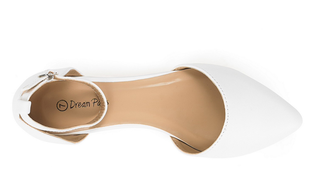 thumbnail 57 - DREAM PAIRS Women's Ballerina Ballet Flats Pointed Toe Ankle Strap Flat Shoes
