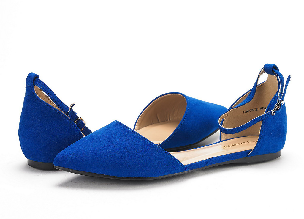 thumbnail 24 - DREAM PAIRS Women's Ballerina Ballet Flats Pointed Toe Ankle Strap Flat Shoes