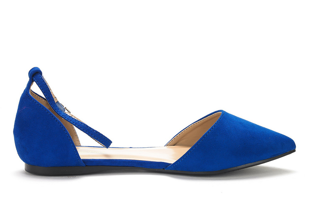 DREAM-PAIRS-Women-039-s-Ballerina-Ballet-Flats-Pointed-Toe-Ankle-Strap-Flat-Shoes thumbnail 23