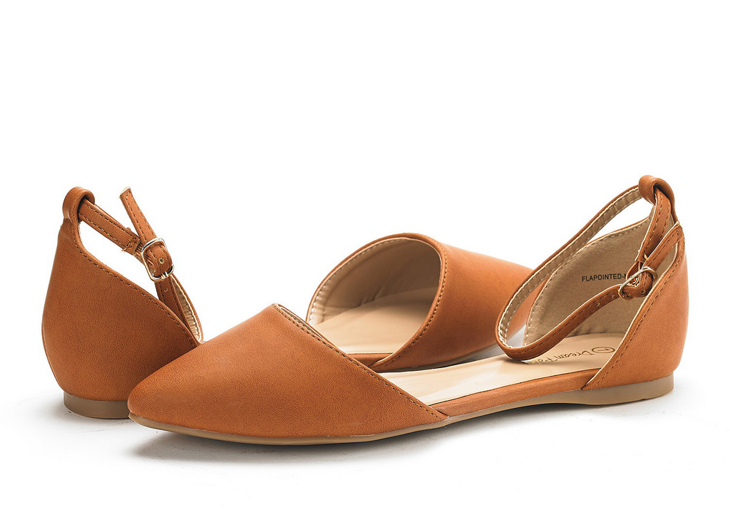 DREAM-PAIRS-Women-039-s-Ballerina-Ballet-Flats-Pointed-Toe-Ankle-Strap-Flat-Shoes thumbnail 28