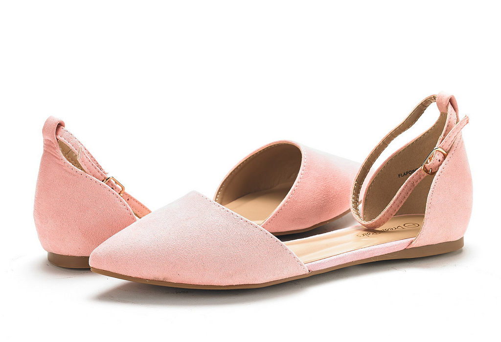 thumbnail 60 - DREAM PAIRS Women's Ballerina Ballet Flats Pointed Toe Ankle Strap Flat Shoes