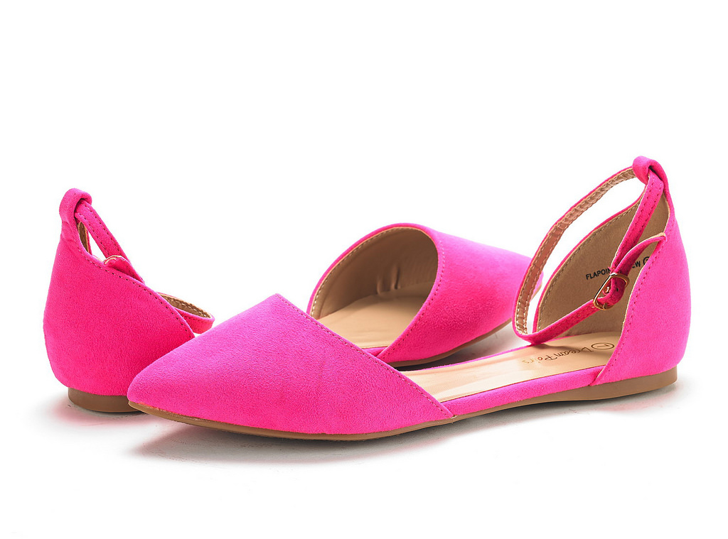 thumbnail 64 - DREAM PAIRS Women's Ballerina Ballet Flats Pointed Toe Ankle Strap Flat Shoes