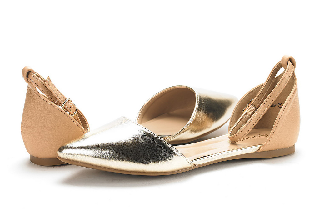 thumbnail 32 - DREAM PAIRS Women's Ballerina Ballet Flats Pointed Toe Ankle Strap Flat Shoes