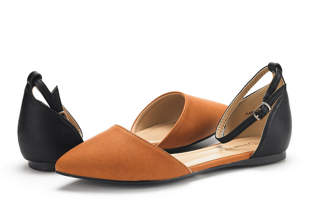 DREAM-PAIRS-Women-039-s-Ballerina-Ballet-Flats-Pointed-Toe-Ankle-Strap-Flat-Shoes thumbnail 68