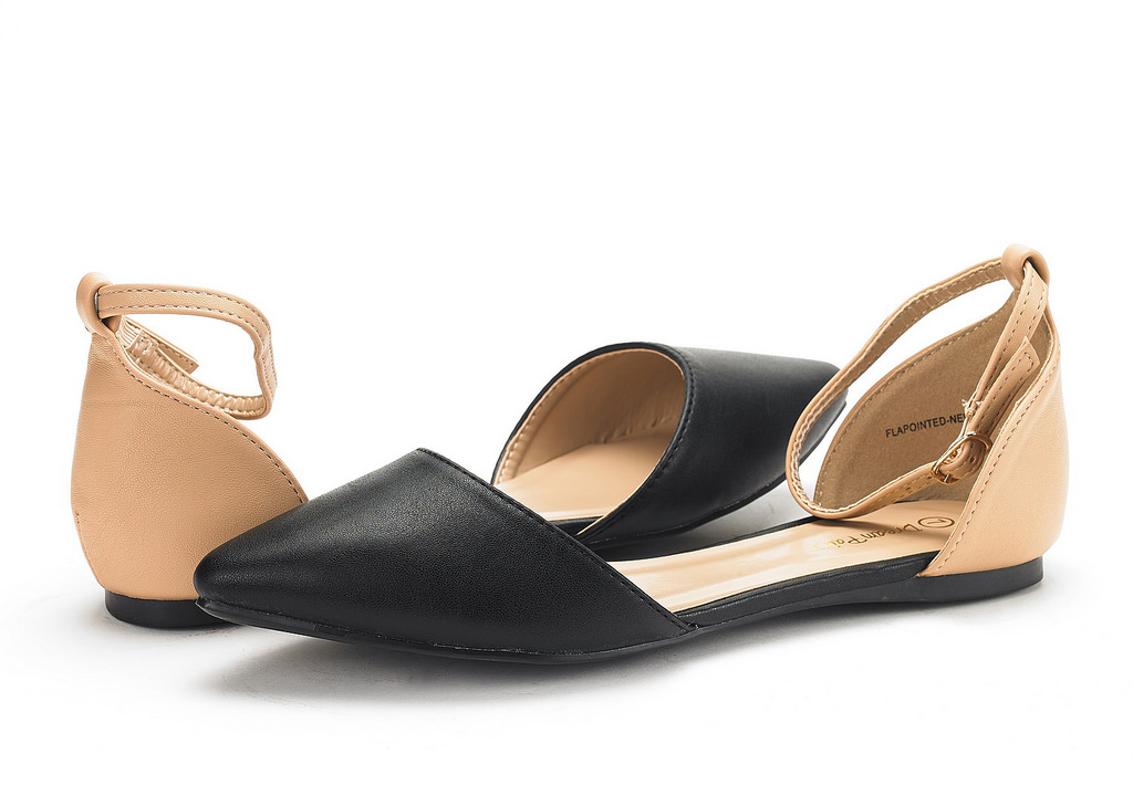 thumbnail 72 - DREAM PAIRS Women's Ballerina Ballet Flats Pointed Toe Ankle Strap Flat Shoes