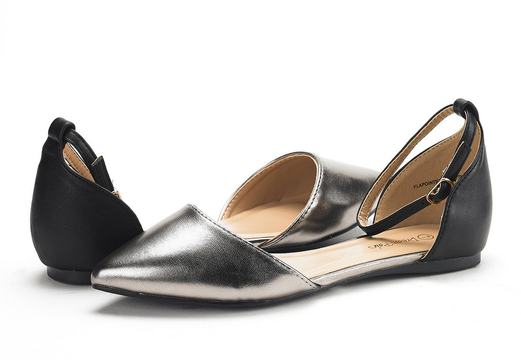 thumbnail 36 - DREAM PAIRS Women's Ballerina Ballet Flats Pointed Toe Ankle Strap Flat Shoes