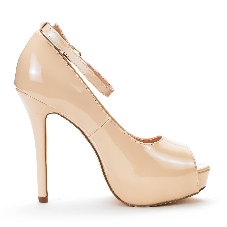 a524f0c4c87d DREAM PAIRS Women s Swan-10 High Heel Platform Ankle Strap Dress ...