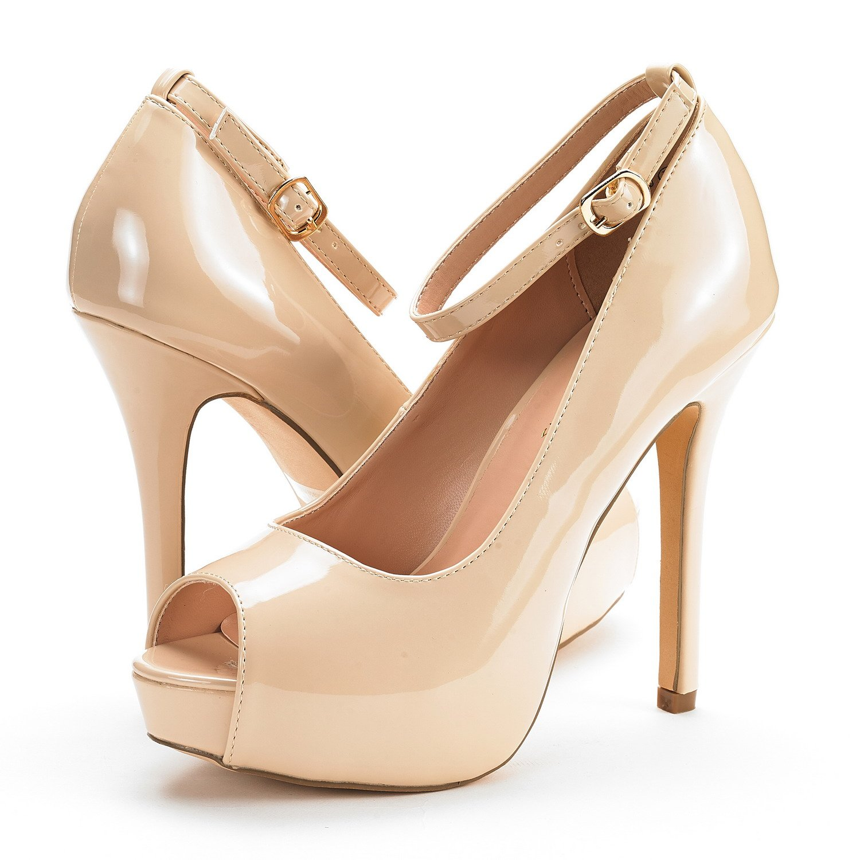 DREAM PAIRS Womens Suavee Silver Low Heel Stiletto Pump