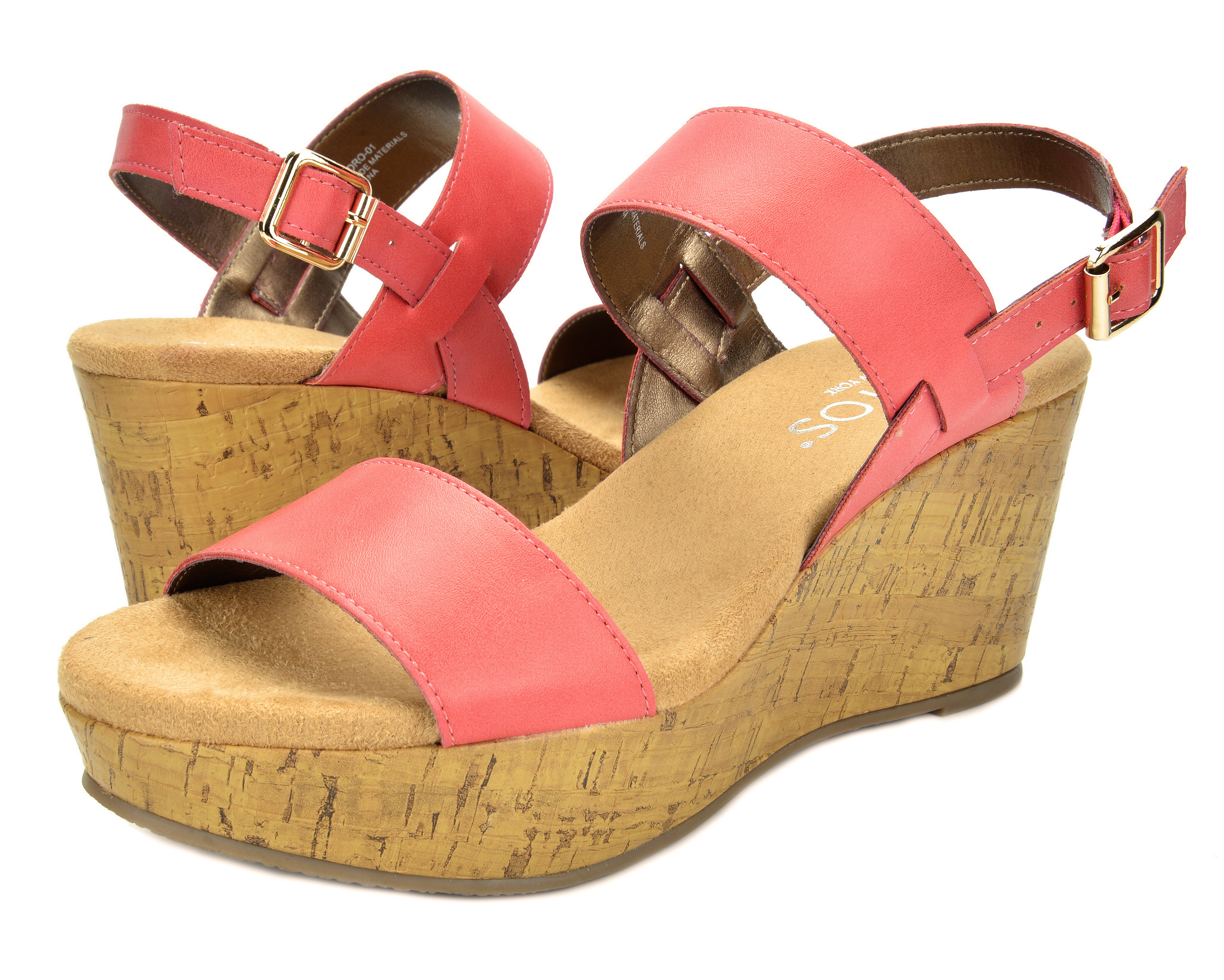 5fe8ecb5656a TOETOS Women SANDRO Summer Casual Ankle Strap Mid Heels Platform ...